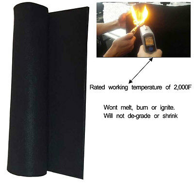 "(11.8""x11.8""x1/8"") Carbon Fiber Welding Blanket Torch Shield Plumbing Heat"