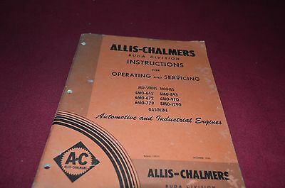 Allis Chalmers Buda Engines Operator Servicing Manual YABE8