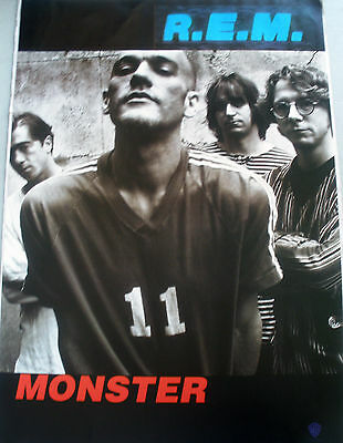 Rare R.e.m. Monster 1994 Vintage Music Record Store Promo Poster