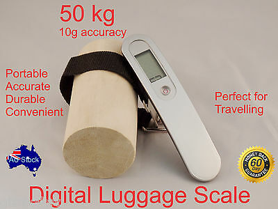 Portable Digital Luggage Travel Suitcase Carry Bag Weighing Scale 50 KG