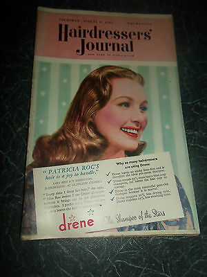 Vintage Retro ~ Hairdressers Journal 4th August 1949 + Illustrated+Advertising
