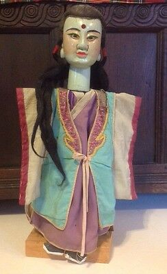 ANTIQUE CHINESE PUPPET DOLL  HAND PAINTED MADE DECORATED Buddha Like Head