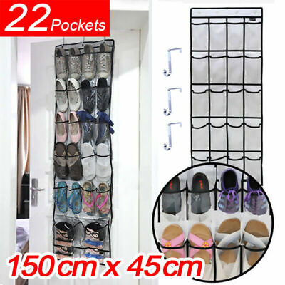 22 Pockets Over Door Clear Oxford Cloth Shoe organiser Storage Rack