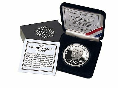 2016 Trump Dollar 1 oz .999 Silver Proof Round USA Made Bullion $25 Norfed Coin
