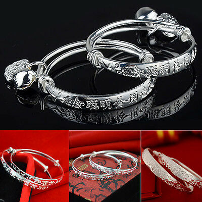 Lots 10Pcs Beautiful Tibetan silver baby Children's Bangles Bracelet NEW