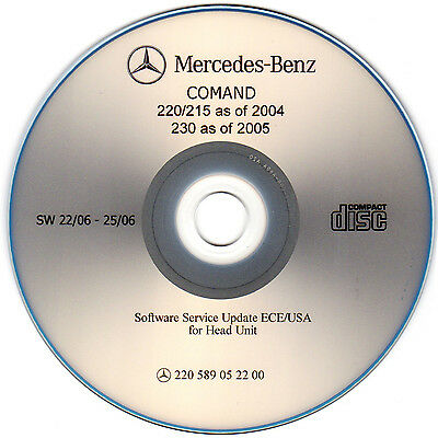 Mercedes W220 W215 W230 COMAND Head Unit Software Service Update USA ECE