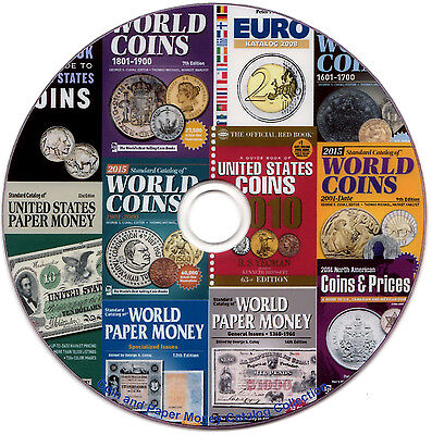 28 Coin and Paper Money Catalogs Collection - KRAUSE Standard World 2015 + Other