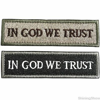 2pcs USA In God We Trust  Military Tactical Morale Patch US Army Badge