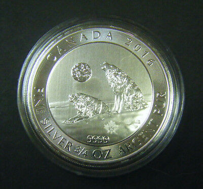 2016 Canada $2 Howling Wolves Wolf Series 3/4oz Silver Bullion Coin 0.75oz