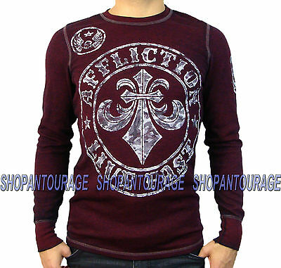 Affliction Divio Camo A12602 New Long Sleeve Fashion Graphic Thermal Top For Men