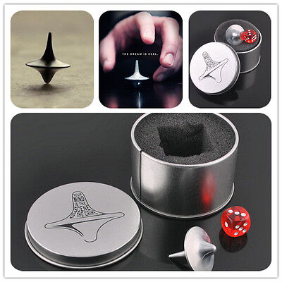 Funny Inception Totem Accurate Spinning Top Zinc Alloy Silver-Color Vintage Toy