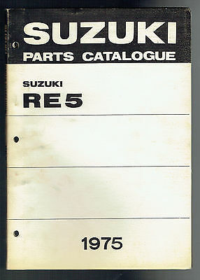 Suzuki Re 5 Parts Manual For N. America First Edition