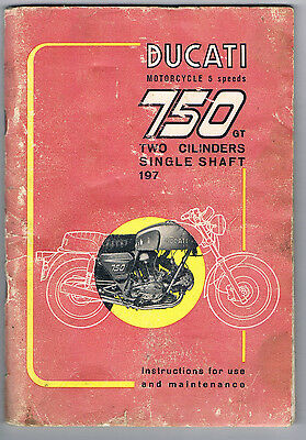 Ducati 750 Gt 1972-1973 Owners Manual March 1972 Wiring Diagram Intact English