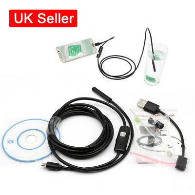 5.5mm USB Endoscope Borescope Inspection Tube Camera for Android Mobile 2/3.5/5M