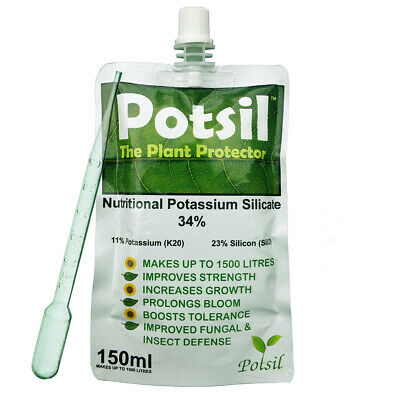 Potsil Liquid Silica, silicon Potassium Silicate. 150ml. Make up to 1500 litres