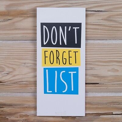 Don't forget List Magnetic Shopping Note book Really Good Fun gift New