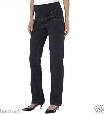 178 Maternity 9 Monate Pants Propping Belly Straight Leg Jeans Pregnant UK 10-12