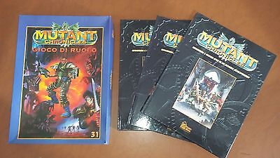 Mutant Chronicles il gioco di ruolo + 3 albi cartonati supplemento gdr bundle