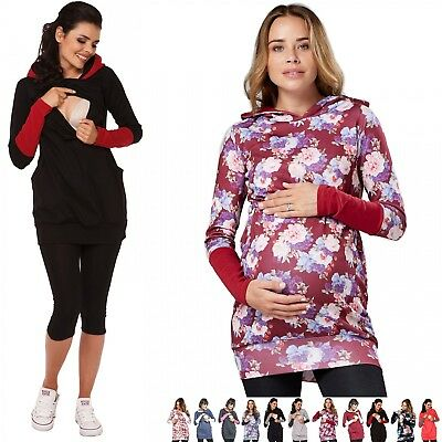 Zeta Ville - Women's breastfeeding top sweatshirt hoodie - nursing panel - 137c