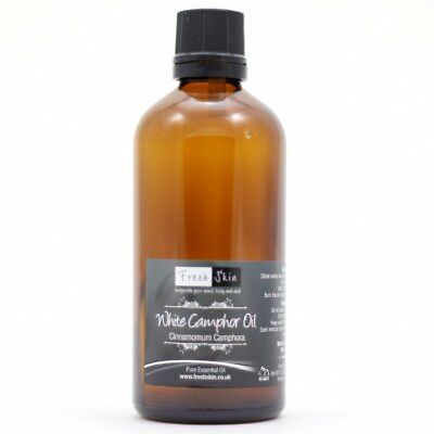 50ml White Camphor Essential Oil - 100% Pure, Certified & Natural - Aromatherapy