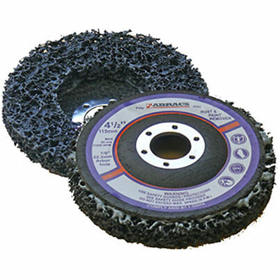 "10 x 115mm 4.5"" Poly Strip Wheel Paint Rust Removal Clean Angle Grinder Disc"