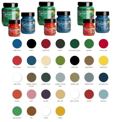 Polyvine Acrylic Enamel Paint ALL COLOURS + SIZES Interior & Exterior use
