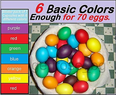 Colorful Paints For Dyeing The Easter Eggs ***priority Delivery***