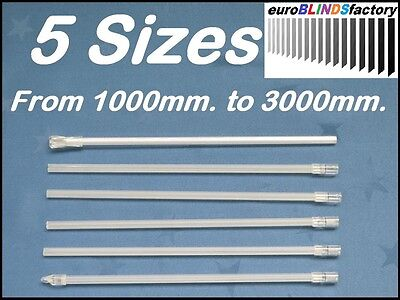 5 Sizes.From 1000mm. to 3000mm.VENETIAN BLIND CONTROL ROD - WAND(Hook on Style)