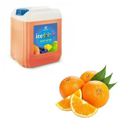Slush Sirup - Konzentrat im 5 Liter Kanister Slusheis Slush Slushy Ice Orange