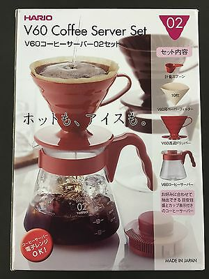 New WHOLESALE Hario V60 Coffee Sever Set VCSD-02R 02 Red from JAPAN