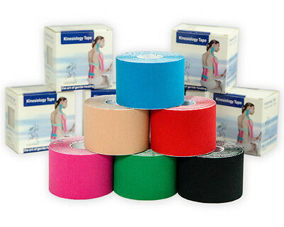 Kinesio 6 ROTOLI ASIAMED cm 5x5mt taping kinesiology tape neuromuscolare assort.