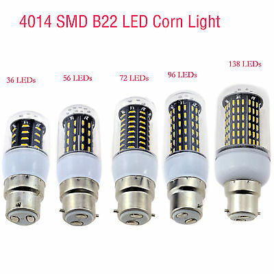 Ultra Bright B22 Bayonet Cap BC 4014 LED SMD Corn Light Spotlight Lamp Bulb 220V
