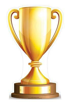 CHAMPIONS SMALL TROPHY CUP EURO World TOURNAMENT CARDBOARD CUTOUT Football Rugby