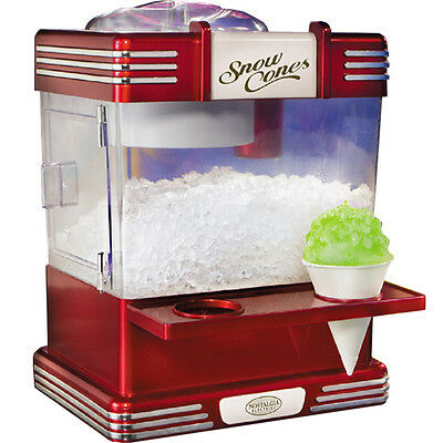 Nostalgia Retro Home Snow Cone Maker, Mini Shaved Ice Compact Snowcone Machine