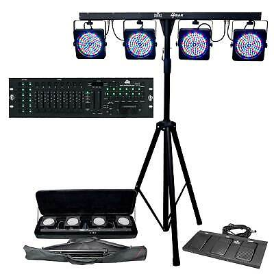Chauvet DJ 4BAR Stage Wash LED Light System and Free DMX Operator 384 Controller