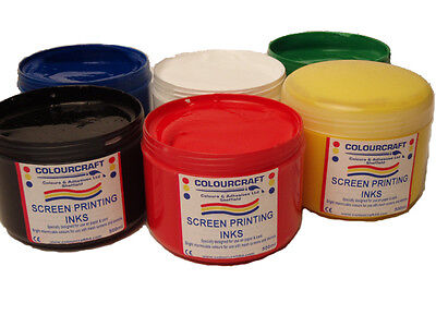 Screen Printing Ink 500ml (15 colours to choose from)