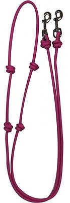 Showman PINK Western Nylon Barrel Reins w/ Snaps! NEW HORSE TACK!