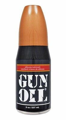 Gun Oil Lubricant - 8oz Silicone Based Personal Sex Lube Unscented