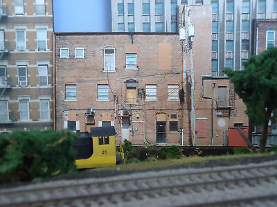 #305 O scale background building flat  BACKSIDE #5   FREE SHIPPING