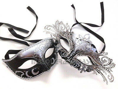 Princess Black White Couple Masquerade Ball Mask Prom Graduation Birthday Party