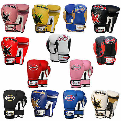 Boxing Gloves Kids Junior Sparring Bag Mitts Focus Pads Training Kick Boxing
