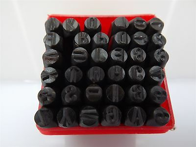 "5MM 3/16"" Letter Number Punch Stamp Set Metal-Steel NEW"