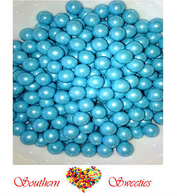 907G Baby Blue Shimmer Sixlets Pearly Candy Balls Bulk Lollies Gluten Free