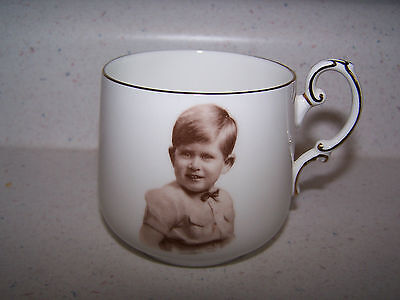 Rare Paragon Bone China Prince Charles Mug / Cup 1953 - Marcus Adams Portrait