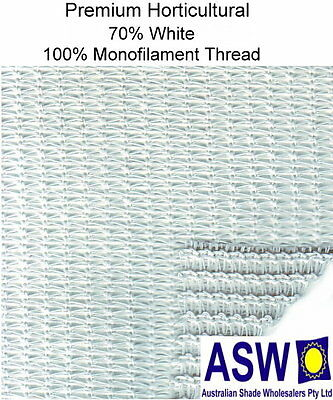 70% UV 3.66m wide WHITE SHADECLOTH Premium Horticultural Commercial Shade Cloth