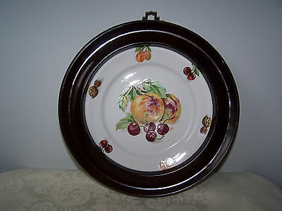 Beautiful Mz Czechoslovakia Framed Collectible Wall Plate With Fruits / Nuts