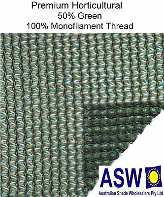 50% UV 3.66m wide GREEN SHADECLOTH Premium Horticultural Commercial Shade Cloth
