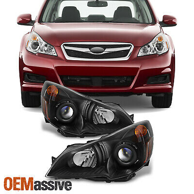 Fit 2010 2011 2012 Subaru Legacy Outback Black Projector Headlights Replacement