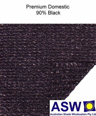 90% UV 3.66m (12') wide BLACK SHADECLOTH Premium Domestic Knitted Shade Cloth