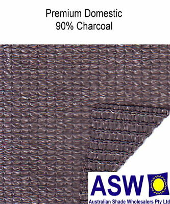 90% UV 3.66m (12') wide CHARCOAL Domestic SHADECLOTH Knitted Shade Cloth